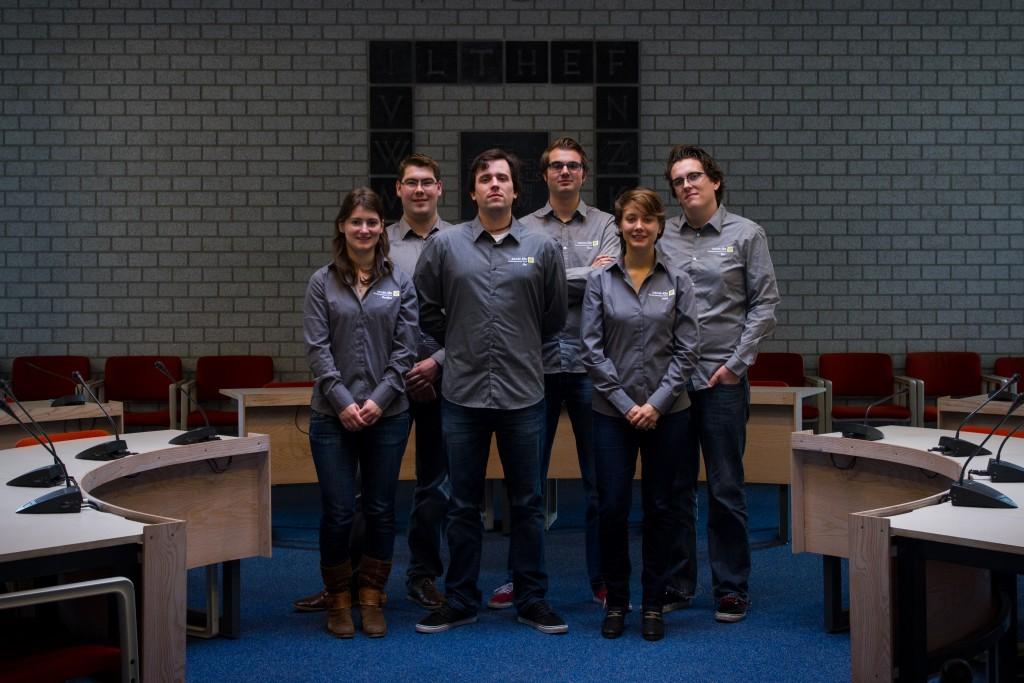 From left: Marijke Valk, Mark Fronen, Jim Stolk, Rien de Böck, Jard van der Lugt, Bor de Kock